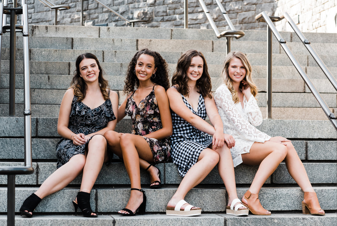 Happy valley photographer captures fashionable high school girls on steps