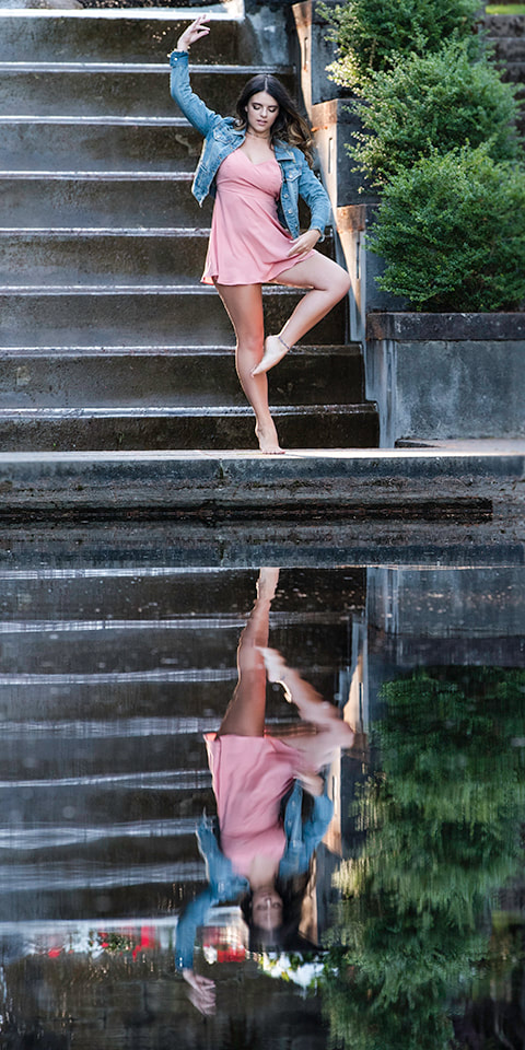 clackamas senior photographer captures senior girl dancing ballet