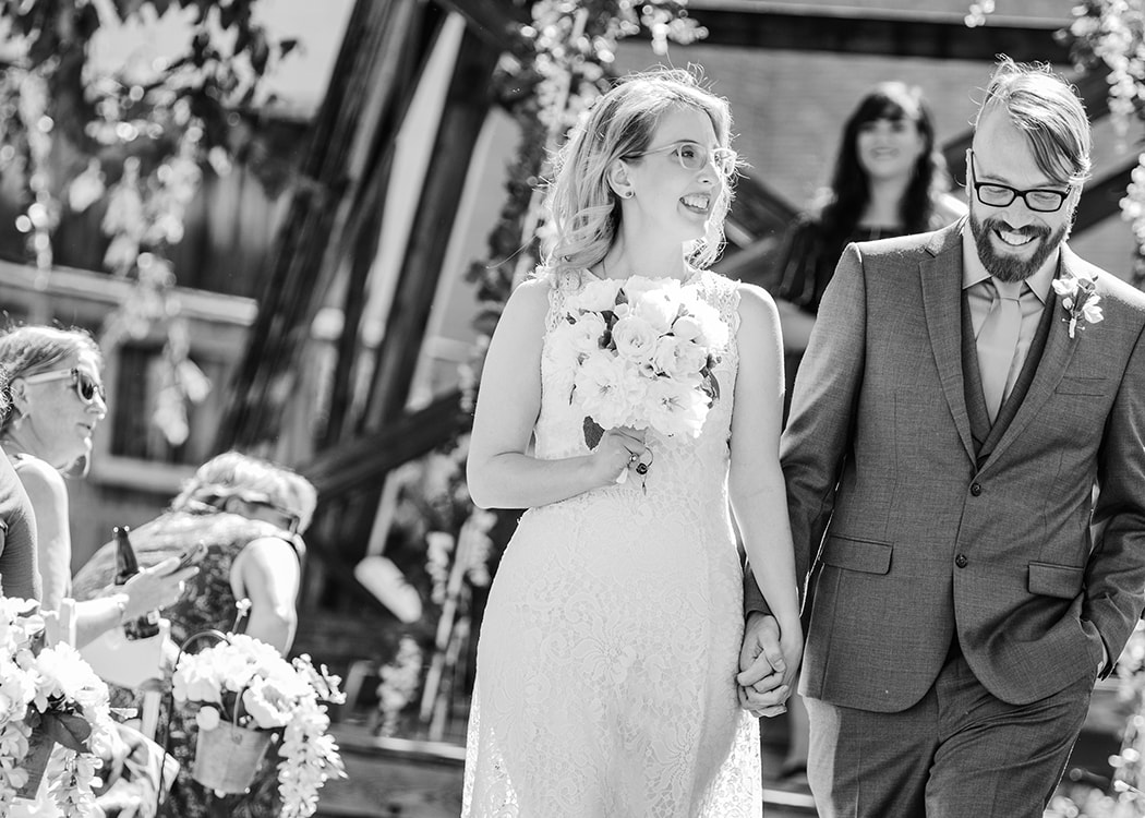 Happy Valley Wedding Photographer captures bride and groom after ceremony